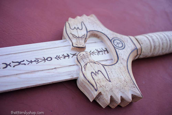 "The ""God Killer"" Wooden Replica Wonder Woman Sword Costume Prop-thatfamilyshop.com"