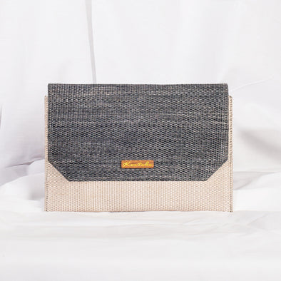Jane Clutch - Light & Dark Grey