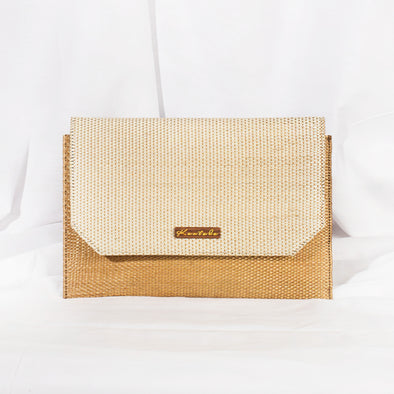 Jane Clutch - Beige & Ivory