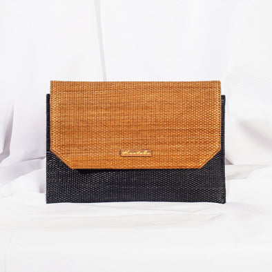 Jane Clutch - Charcoal & Copper
