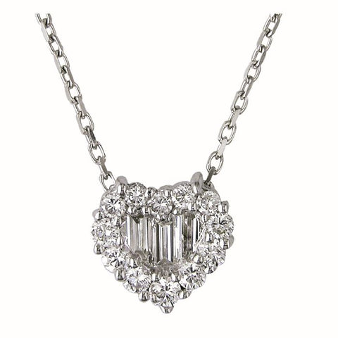 1F0001AWPDD0 18KT White Diamond Pendant
