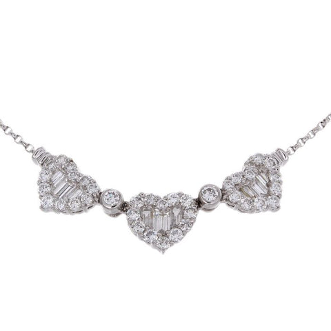 1F0002AWCHD0 18KT White Diamond Necklace