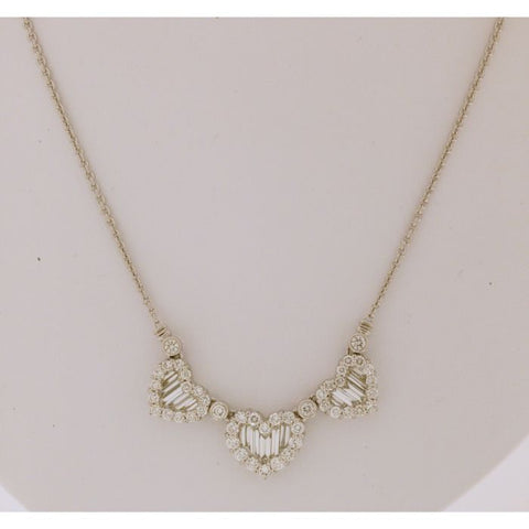 1F0003AWCHD0 18KT White Diamond Necklace