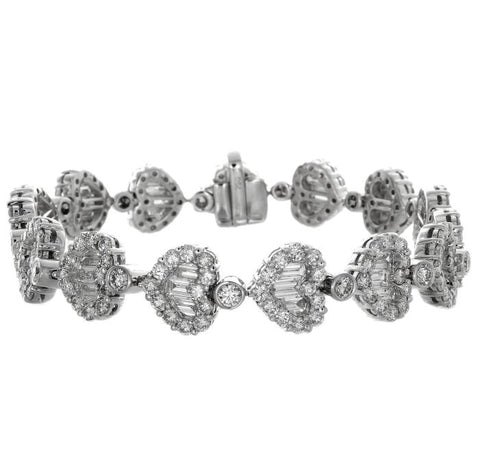 1F0004AWLBD0 18KT White Diamond Bracelet $Ask For Price