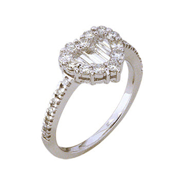 1F0007AWLRD0 18KT White Diamond Ring