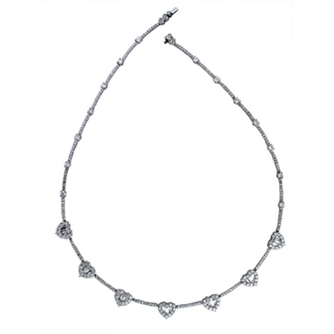 1F0010AWCHD0 18KT White Diamond Necklace