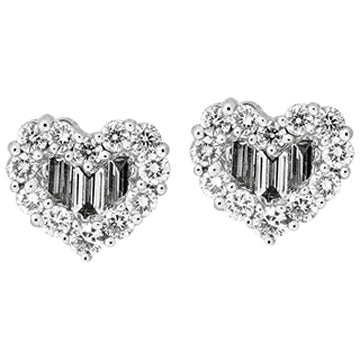 1F0013AWERD0 18KT White Diamond Earring