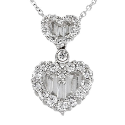 1F0016AWPDD0 18KT White Diamond Pendant