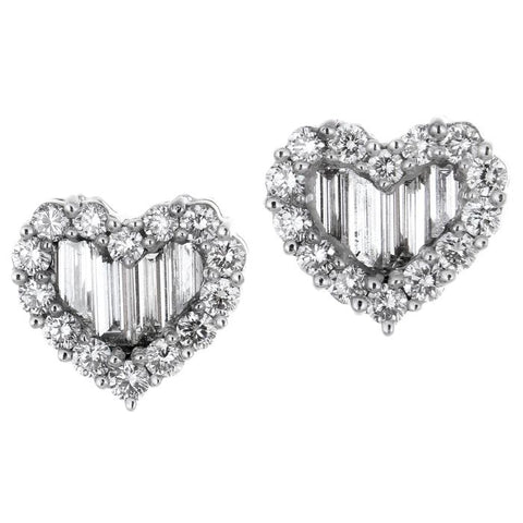 1F0061AWERD0 18KT White Diamond Earring