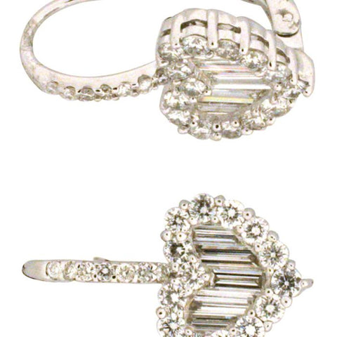 1F0099AWERD0 18KT White Diamond Earring