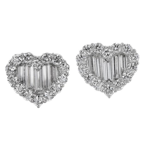 1F01233AWERD0 18KT White Diamond Earring