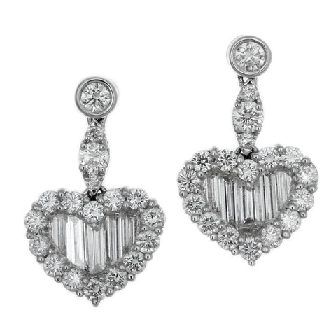 1F0145AWERD0 18KT White Diamond Earring
