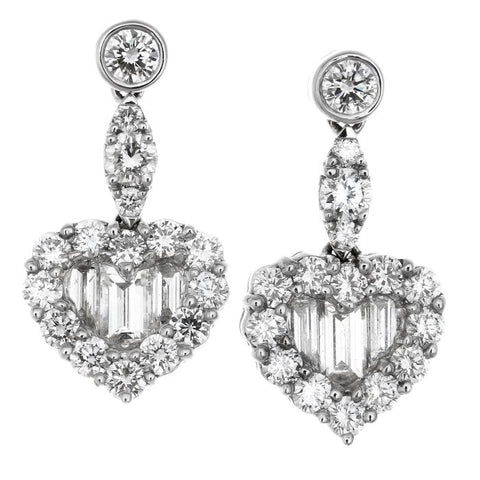 1F0146AWERD0 18KT White Diamond Earring