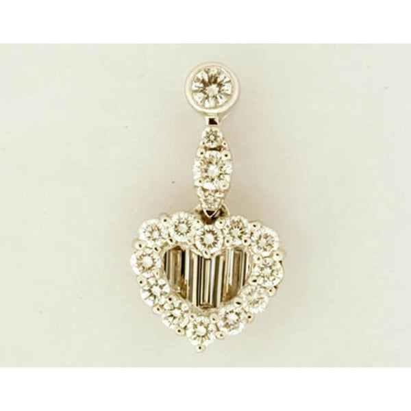 1F0146AWPDD0 18KT White Diamond Pendant