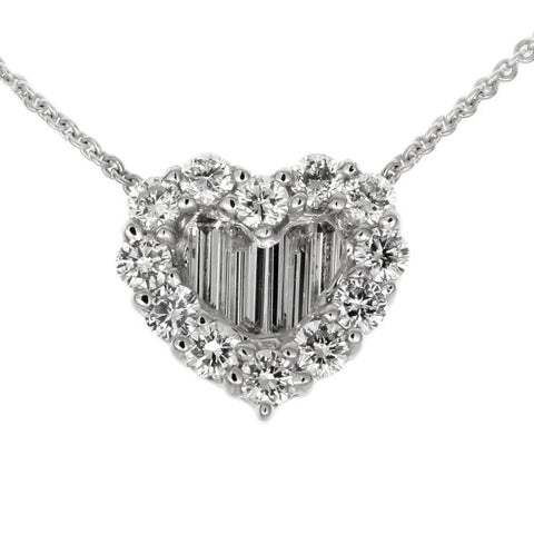 1F01561AWPDD0 18KT White Diamond Pendant