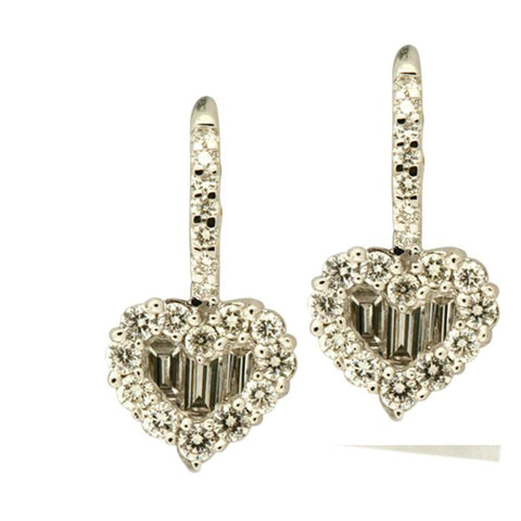 1F0163AWERD0 18KT White Diamond Earring