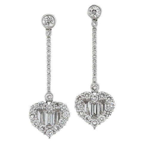 1F0188AWERD0 18KT White Diamond Earring