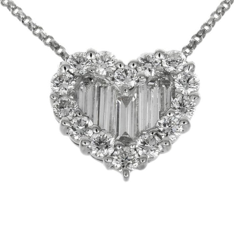 1F02236AWPDD0 18KT White Diamond Pendant