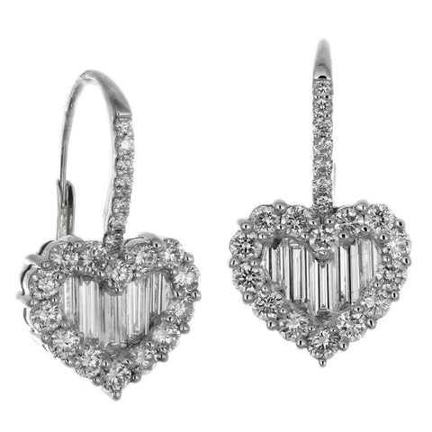 1F0243614AWERD0 18KT White Diamond Earring