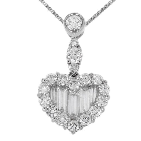 1F0243639AWPDD0 18KT White Diamond Pendant