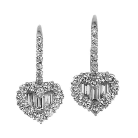 1F0244904AWERD0 18KT White Diamond Earring