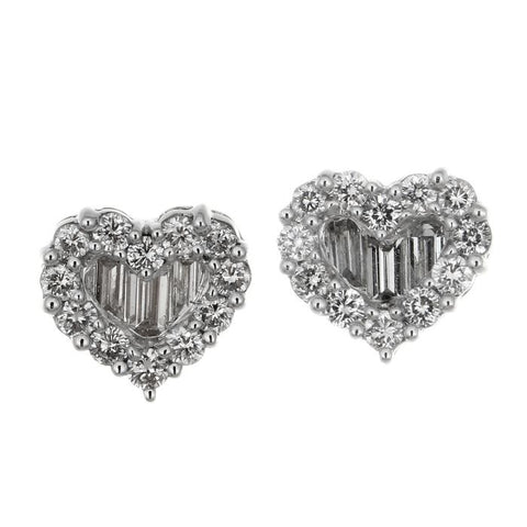 1F03310AWERD0 18KT White Diamond Earring