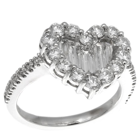 1F0355AWLRD0 18KT White Diamond Ring