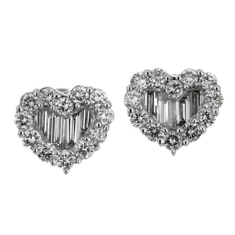 1F0906AWERD0 18KT White Diamond Earring
