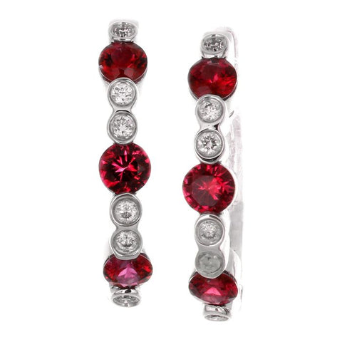 4F0014AWERDR 18KT Ruby Earring