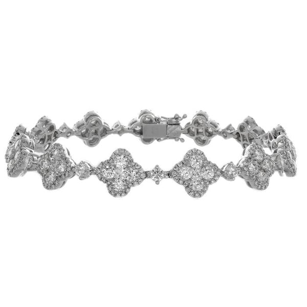 4F01368AWLBD0 18KT White Diamond Bracelet
