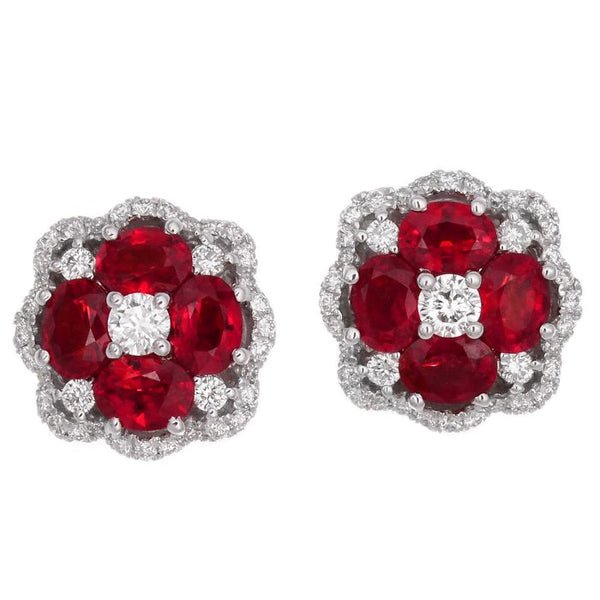 4F01461AWERDR 18KT Ruby Earring