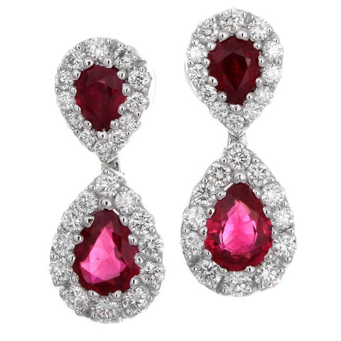4F0184AWERDR 18KT Ruby Earring