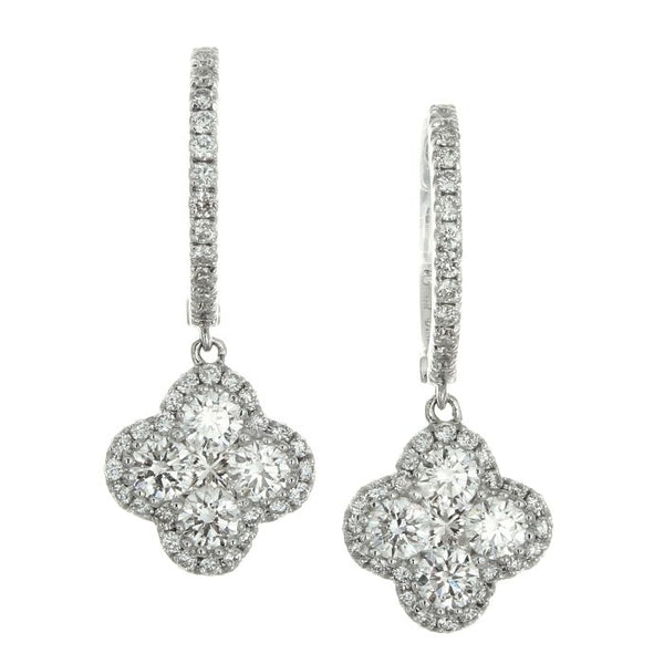 4F01970AWERD0 18KT White Diamond Earring