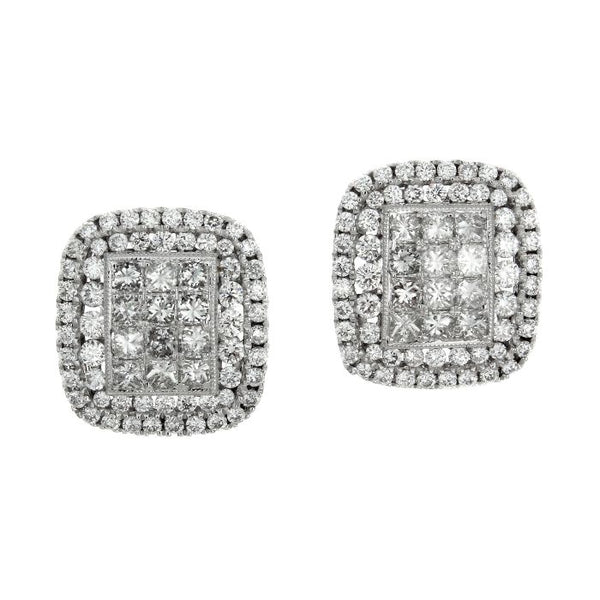 4F02497AWERD0 18KT White Diamond Earring