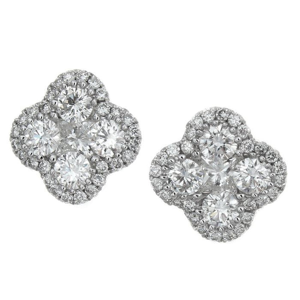 4F04484AWERD0 18KT White Diamond Earring