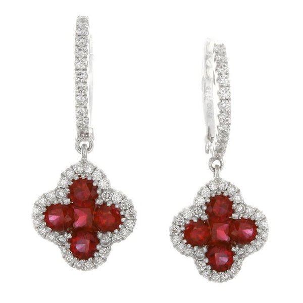 4F04490AWERDR 18KT Ruby Earring