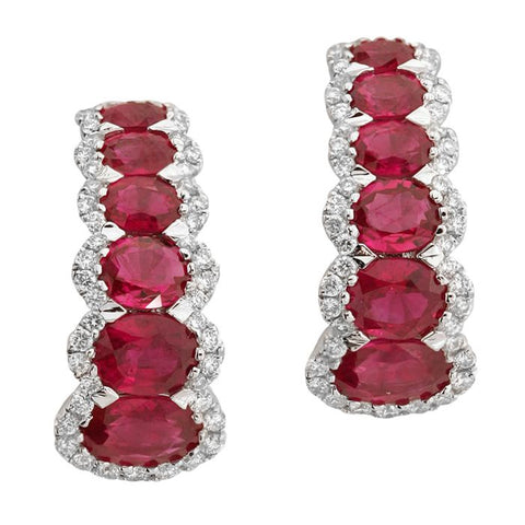 4F05030AWERDR 18KT Ruby Earring