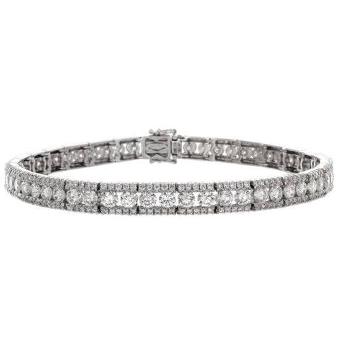 4F05380AWLBD0 18KT White Diamond Bracelet