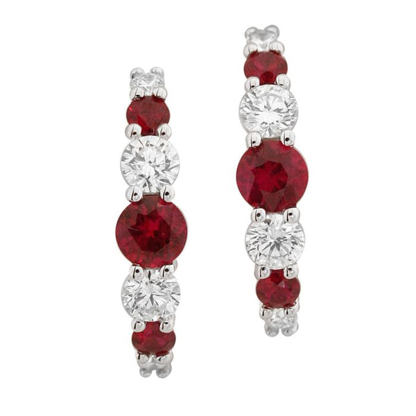 4F05538AWERDR 18KT Ruby Earring