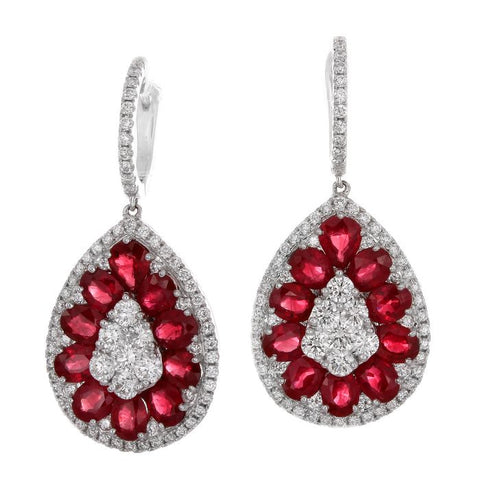 4F05920AWERDR 18KT Ruby Earring