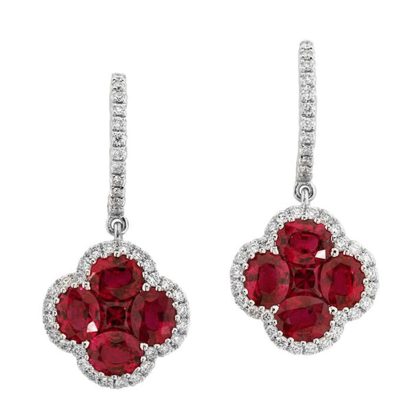 4F05955AWERDR 18KT Ruby Earring $3650
