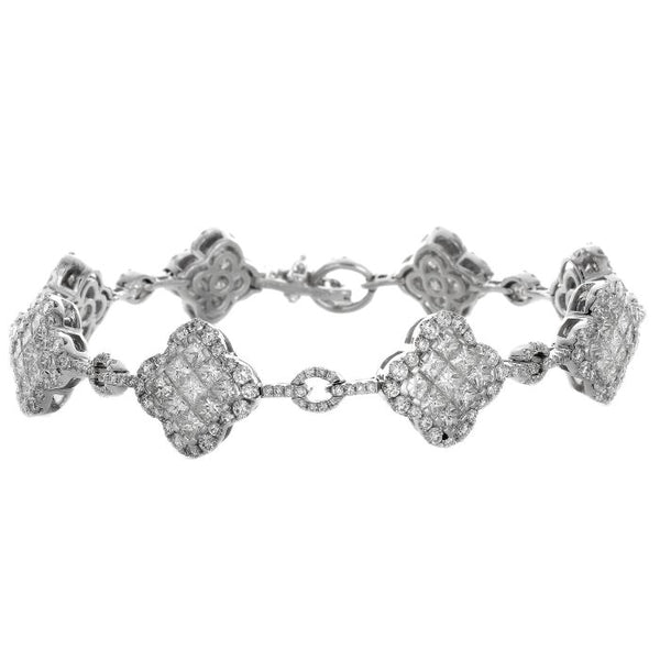 4F06380AWLBD0 18KT White Diamond Bracelet