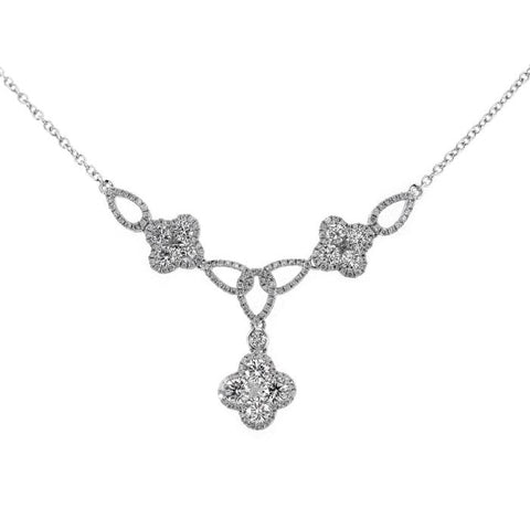4F07750AWCHD0 18KT White Diamond Necklace