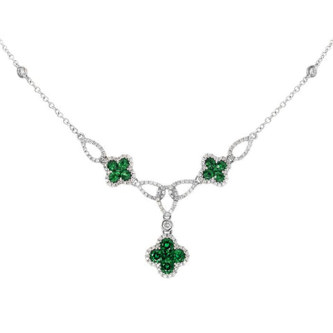4F07750AWCHDE 18KT Emerald Necklace