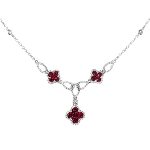 4F07750AWCHDR 18KT Ruby Necklace