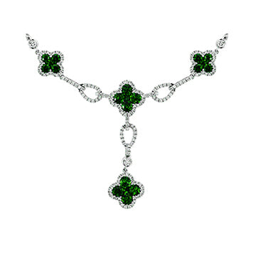 4F07820AWCHDE 18KT Emerald Necklace