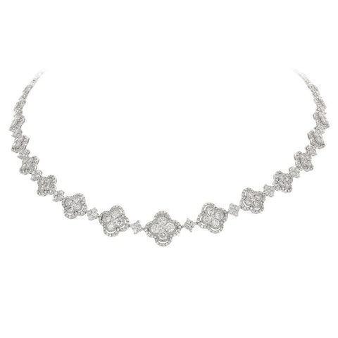4F08100AWCHD0 18KT White Diamond Necklace