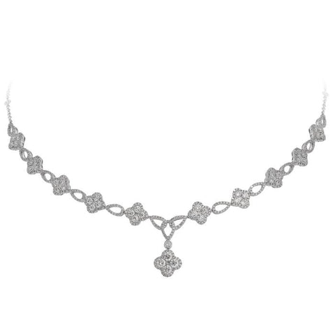 4F08280AWCHD0 18KT White Diamond Necklace