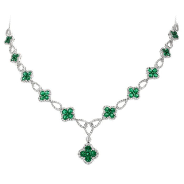 4F08280AWCHDE 18KT Emerald Necklace