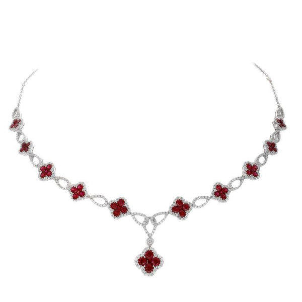 4F08280AWCHDR 18KT Ruby Necklace